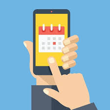 Smartphone et calendrier